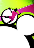 Handball grill background Royalty Free Stock Image