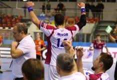 Handball gry silnik Zaporozhye vs Kadetten Schaffhausen Obrazy Royalty Free