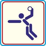 Handball jouant le symbole pour le téléchargement Projets d'impression d'icônes de vecteur Photos libres de droits