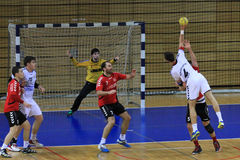 Handball jump shot Royalty Free Stock Photos