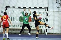 Handball kara Obrazy Royalty Free