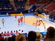 Handball kobiet 17 Sierpień 2004 olimpiady Południowy Dani (wynik 29-29) Zdjęcie Stock