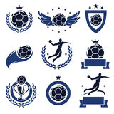 Handball labels and icons set. Vector Stock Images