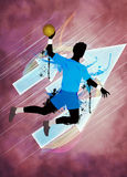 Handball man background Stock Images