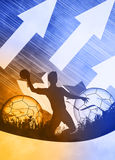 Handball man background Stock Image