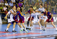 Handball match Royalty Free Stock Image