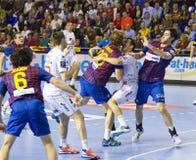 Handball match Barcelona vs Montpellier Royalty Free Stock Photography