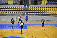 Handball match, fastbreak Stock Photos