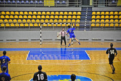 Handball match, fastbreak Royalty Free Stock Photos