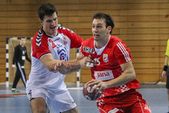 Handball match Royalty Free Stock Images