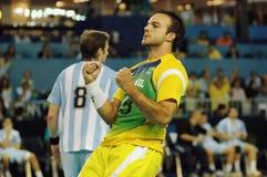 Handball - niecek Amerykańskie gry 2007 zdjęcie royalty free