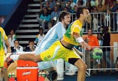 Handball - niecek Amerykańskie gry 2007 obraz royalty free