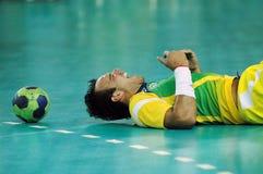 Handball - niecek Amerykańskie gry 2007 zdjęcia royalty free