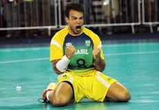 Handball - niecek Amerykańskie gry 2007 obrazy royalty free