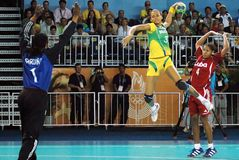 Handball - niecek Amerykańskie gry 2007 fotografia stock