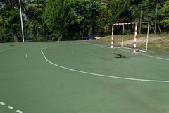 Handball outdoor court Stock Photography