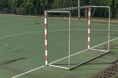 Handball outdoor court Stock Photo