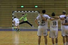 Handball penalty kick Stock Photos
