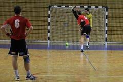 Handball penalty kick Royalty Free Stock Photos