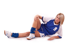 Handball player Stock Image