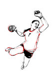 Handball player Royalty Free Stock Image