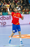 Handball player Dani Sarmiento Royalty Free Stock Image