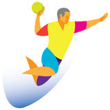 Handball player Royalty Free Stock Photo