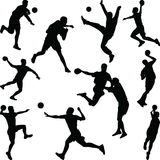 Handball player silhouette vector stock photography