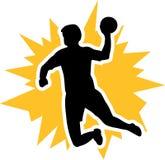 Handball Player Fire. Handball Player yellow Fire vector Stock Image