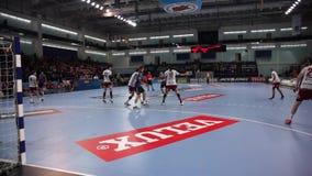 Handball players stock footage