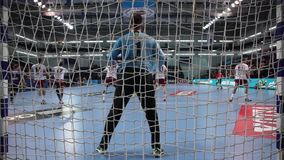 Handball players stock video