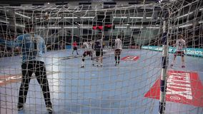 Handball players stock video footage