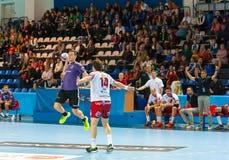 Handball players Royalty Free Stock Photo