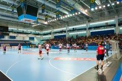 Handball players Stock Photography
