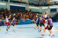 Handball players Stock Photos
