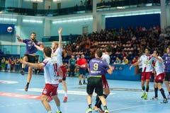 Handball players Royalty Free Stock Image