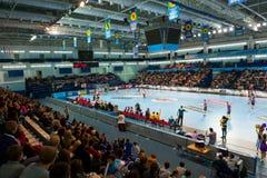 Handball players Stock Photo