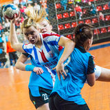 Handball players Royalty Free Stock Images