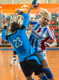 Handball players Stock Images
