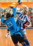 Handball players Stock Images