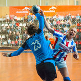 Handball players Stock Image