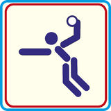 Handball playing symbol for download. Vector icons print projects. Handball playing symbol for download. Vector icons Vector Illustration