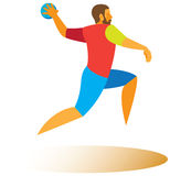 Handball posyła rzut Zdjęcia Stock