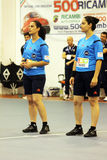Handball referee Royalty Free Stock Images