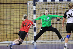Handball saving Stock Photography