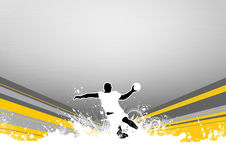 Handball shot Royalty Free Stock Images