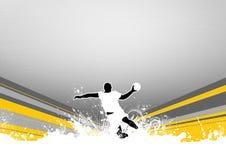 Handball shot vector illustration