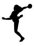 Handball silhouette Stock Photography