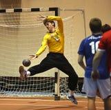 Handball team man goalie ball Royalty Free Stock Photos