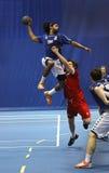 Handball team man jump shot Royalty Free Stock Photo